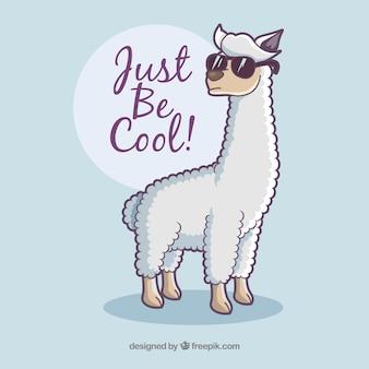 Sfondo di alpaca con citazione