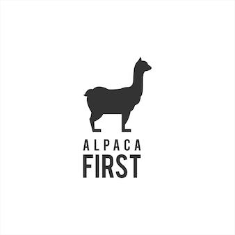 Alpaca logo capra vector animal