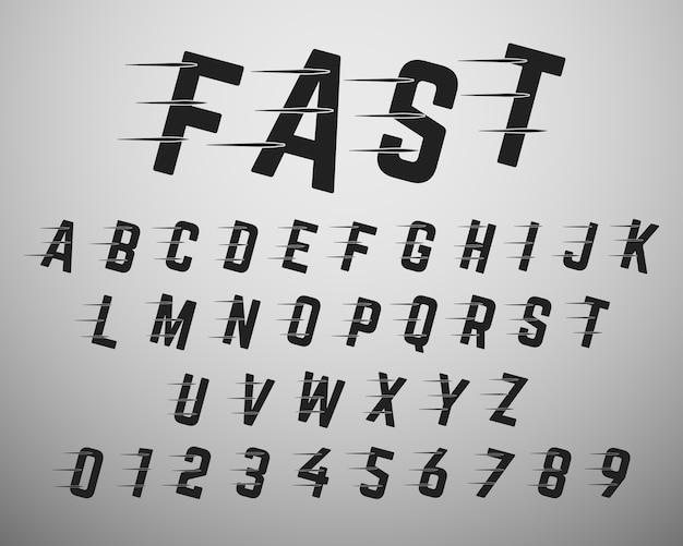 Modello di carattere alfabeto.