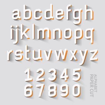 Disegni di carta tagliata alfabeto.