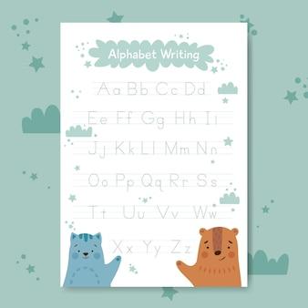 Modello di tracciamento di alfabeto