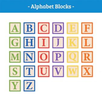Blocchi vettoriali alfabeto