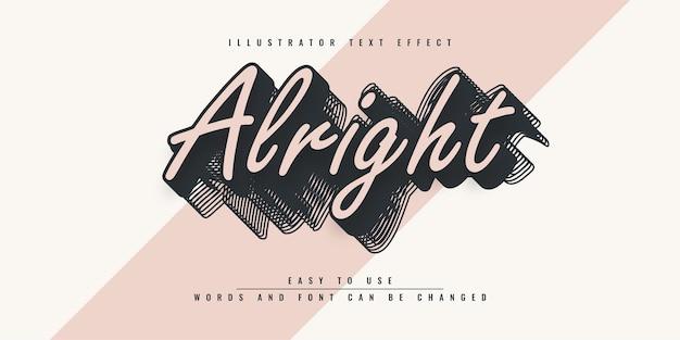 Va bene il design dell'effetto di testo modificabile dell'illustratore