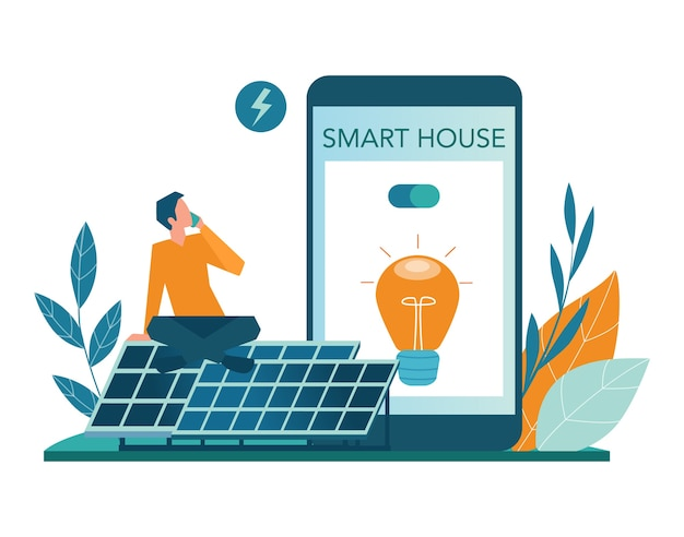 Servizio online di energia alternativa o set di piattaforme