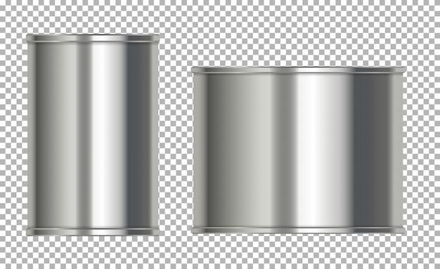Lattine di alluminio senza etichetta
