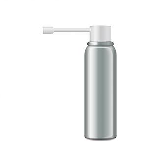 Flacone in alluminio con spruzzatore per spray orale.
