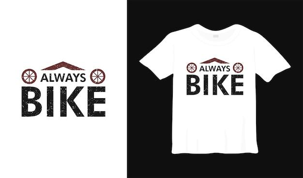 Design della maglietta sportiva sempre in bici illustrazione del concetto di abbigliamento ricreativo per motociclisti hobby