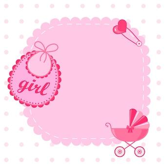 Incredibile set per baby shower o arrivo. tag, banner, etichette, carte con illustrazione di bambini carini.