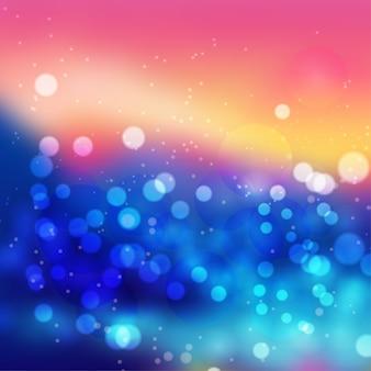 Incredibile astratto colorato bokeh