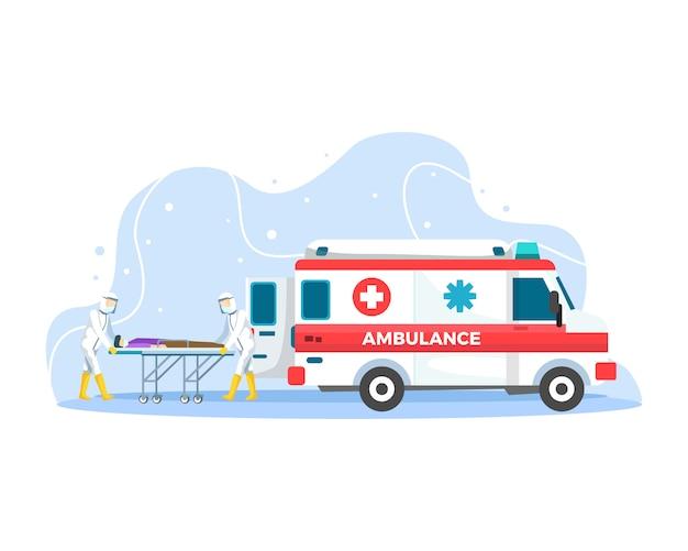 Concetto di emergenza dell'ambulanza