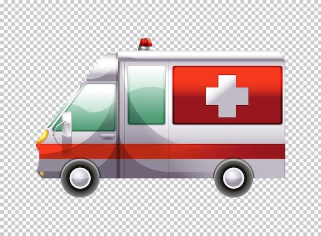 Furgone dell'ambulanza su sfondo trasparente