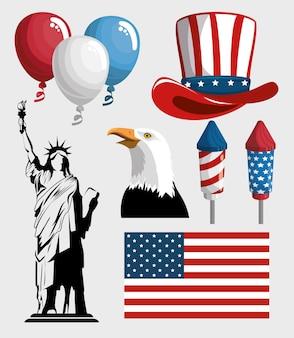 Oggetti relativi all'america