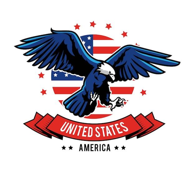Disegno dell'emblema dell'aquila americana