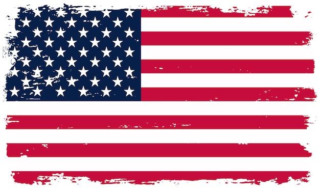 Bandiera americana in stile grunge