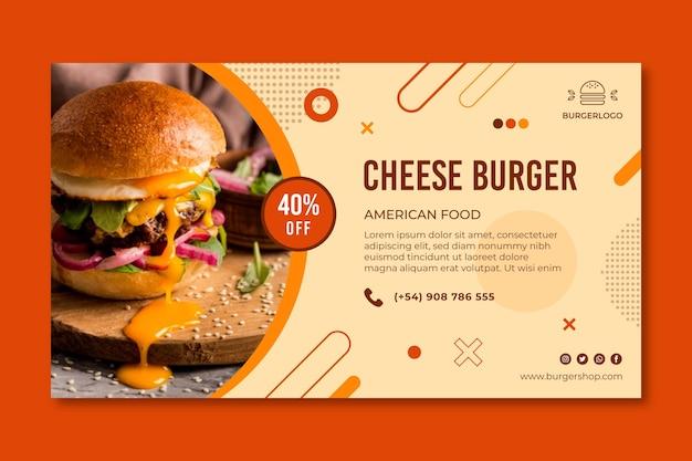 Modello di banner di cibo americano Vettore Premium