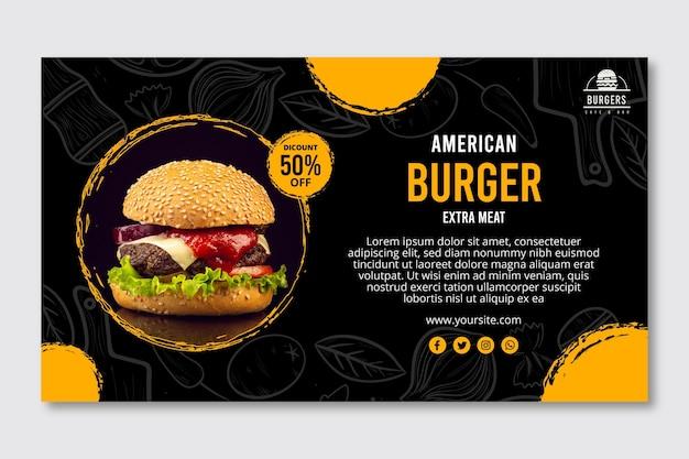 Banner di cibo americano