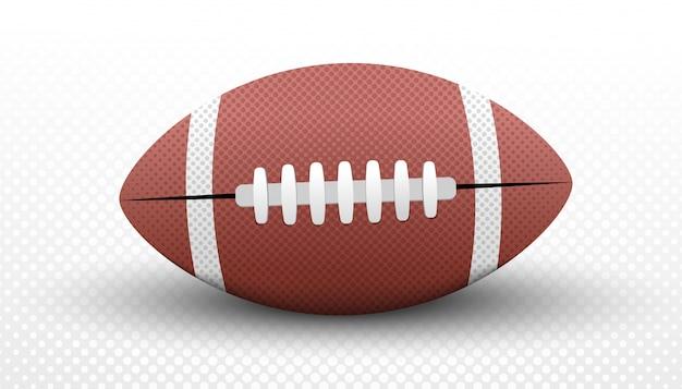 Concetto di palla football americano