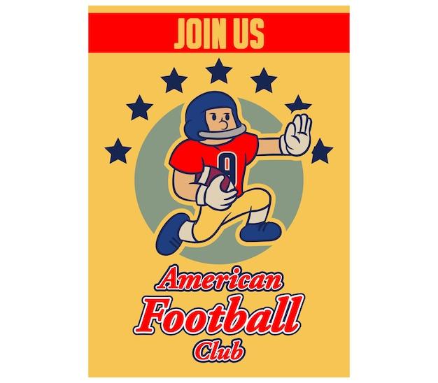 Poster di reclutamento dell'annata del fumetto di football americano
