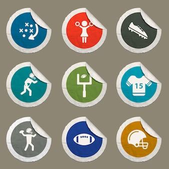 Icona a colori del football americano per siti web e interfaccia utente