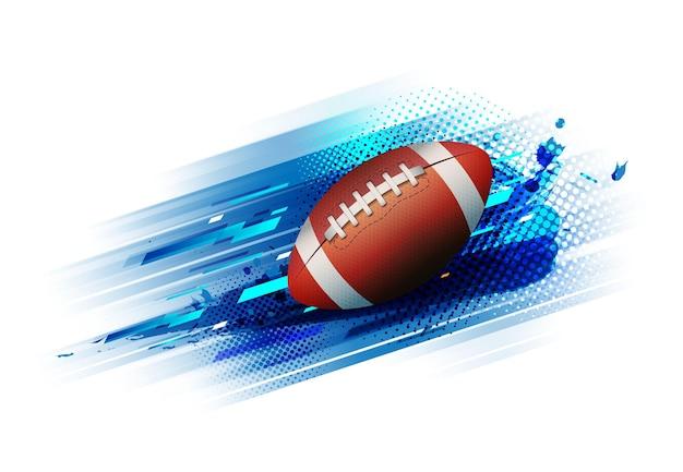 Manifesto del modello di torneo di torneo di football americano o disegno vettoriale di banner.
