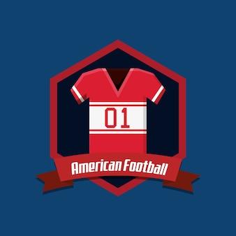 Emblema di football americano con icona di maglia