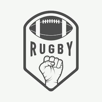 Emblemi di football americano e logo.