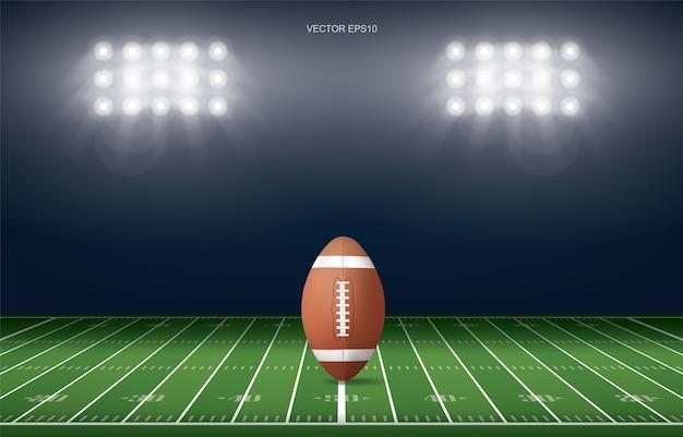 Sfondo stadio campo di football americano
