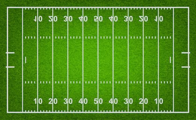 Campo di football americano con trama di erba.