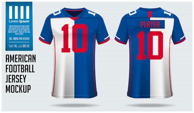 Maglia da football americano o modello di kit da calcio