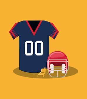 Maglia da football americano e casco