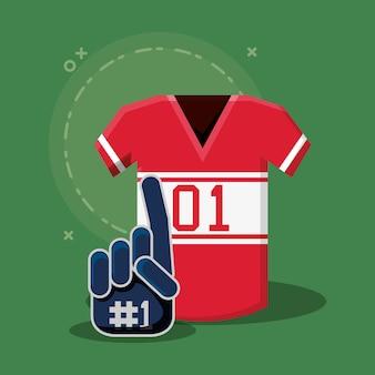 Maglia da football americano e guanti sportivi