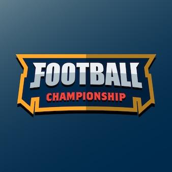 Football americano logo template