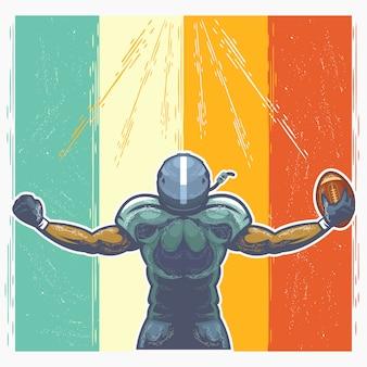 Il giocatore di football americano celebra