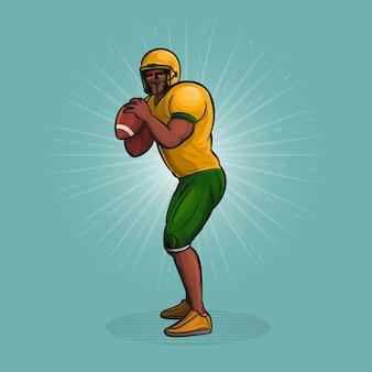 Lancio del giocatore di football americano