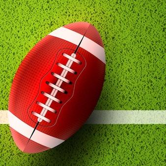 Football americano. partita di rugby. illustrazione di sport football americano.