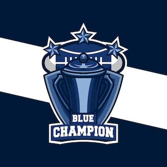 Logo sportivo di football americano