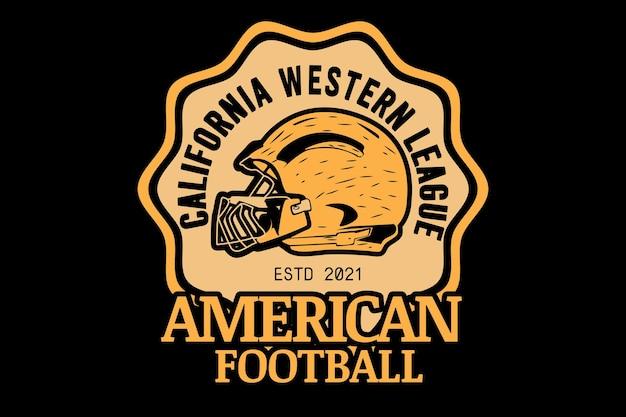 Design del mockup della maglietta tipografica di football americano