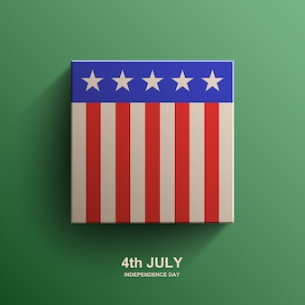 Sfondo del giorno dell'indipendenza americana, bandiera americana,