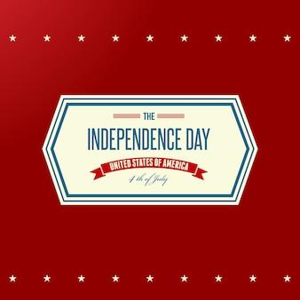 Sfondo patriottico del giorno dell'indipendenza americana. illustrazione