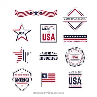 Insegne americane Vettore Premium