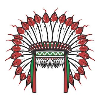 Vestito capo indiano nativo americano