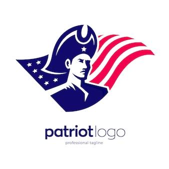 Design del logo del patriota americano