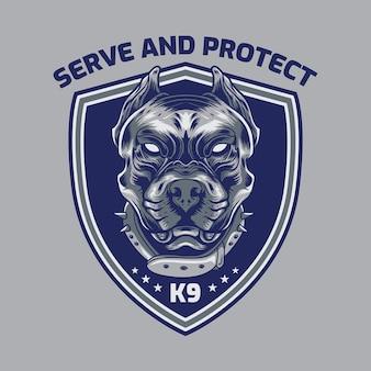 Logo distintivo del servizio di sicurezza dell'american pitbull