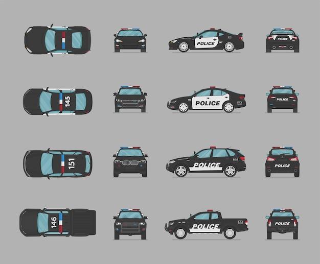 Macchine della polizia americane da diverse parti