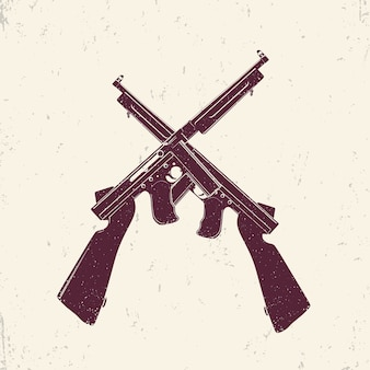 Fucili mitragliatori americani, due armi da fuoco incrociate