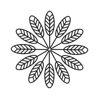 Struttura etnica indigena dei segni delle frecce di simbolo americano. modello tradizionale di totem azteco e messicano.