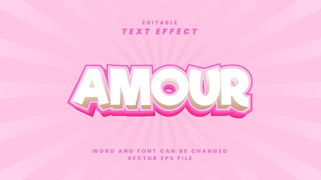 Effetto di testo modificabile amour