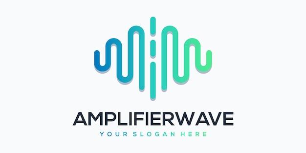 Elemento lettore amplifierwave con modello di logo a impulsi