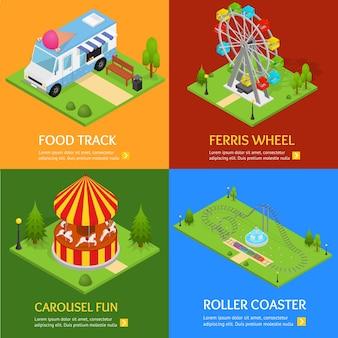 Scenografia del parco di divertimenti.