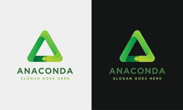 Modello di logo di anaconda